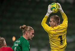 Patrik Gunnarsson (Viborg FF) griber bolden under kampen i 1. Division mellem Viborg FF og FC Helsingør den 30. oktober 2020 på Energi Viborg Arena (Foto: Claus Birch).