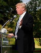 Oct. 04, 2011 - Charlottesville, VA. USA; Donald Trump spoke during a press conference announcing the grand opening of Trump Vineyard Estates Tuesday in Charlottesville, Va. Trump purchased the foreclosed vineyard, previously owner by Patricia Kluge, at auction earlier this year. The 2,000 acre Trump Vineyard estate is also the home to Trump Winery, helmed by Donald's son Eric Trump. (Credit Image: © Andrew Shurtleff)