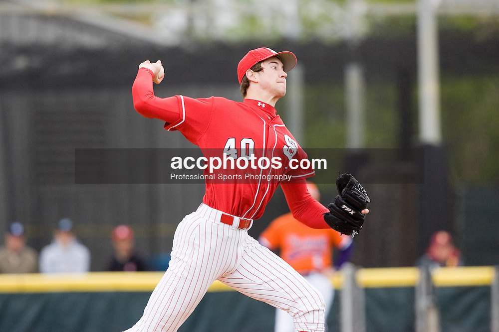 24 April 2005: Wolfpack pitcher (40) Andrew Brackman NC State baseball in a 9-8 win over Clemson at Doak Field in Raleigh, NC..