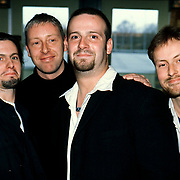 Uitreiking Annie M.G.Schmidtprijs 1997, Blof, vlnr Bas kennis, Chris Götte, Pascal Jacobsen en Peter Schlager