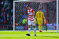 Matty Blair of Doncaster Rovers (17) reacts during the EFL Sky Bet League 1 match between Doncaster Rovers and Coventry City at the Keepmoat Stadium, Doncaster, England on 4 May 2019.