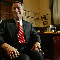 (PPAGE1) Trenton  12/20/2002 Gov. Jim McGreevey during a sit down intervies for a end of first year in office story.  Michael J. Treola Staff Photographer.......MJT