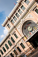 Beautifully restored old French Colonial building of the Post Office in Saigon.