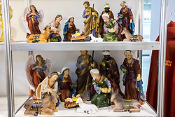 April 14, 2018 - Poznan, Wielkopolska, Poland - The Sakralia - fair of the liturgical and church accessories.  In the picture: the cribs with prices. PUBLICATION IN THE NEGATIVE CONTEXT IS FORBIDDEN (Credit Image: © Dawid Tatarkiewicz via ZUMA Wire)