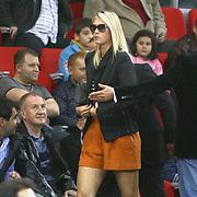 Russian player Maria SHARAPOVA seen during their Turkish Basketball League match Anadolu Efes between Aliaga Petkim at Aliaga Arena in Istanbul, Turkey, Sunday, October 23, 2011. Photo by TURKPIX