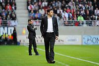 FOOTBALL - FRENCH CHAMPIONSHIP 2011/2012 - L2 - STADE DE REIMS v AS MONACO - 07/05/2015 - PHOTO JEAN MARIE HERVIO / REGAMEDIA / DPPI - HUBERT FOURNIER ( REIMS COACH )