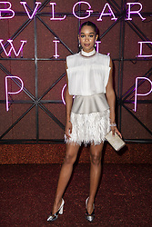 Laura Harrier attends the Bvgalri Gala Dinner held at the Stadio dei Marmi in Rome, Italy on June 28, 2018. Photo by Marco Piovanotto/ABACAPRESS.COM