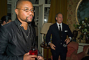 CUBA GOODING JNR. AND CHARLES FINCH, Pre Bafta dinner hosted by Charles Finch and Chanel. Mark's Club. Charles St. London. 9 February 2008.  *** Local Caption *** -DO NOT ARCHIVE-© Copyright Photograph by Dafydd Jones. 248 Clapham Rd. London SW9 0PZ. Tel 0207 820 0771. www.dafjones.com.