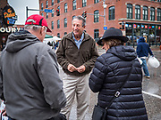 19 OCTOBER 2019 - DES MOINES, IOWA: MARK SANFORD (R-SC) talks to visitors to the Des Moines Farmers' Market during a campaign visit to the market Saturday. Sanford, a former Republican governor and Congressman from South Carolina, is challenging incumbent President Donald Trump for the Republican nomination for the US presidency. Iowa hosts the first event of the presidential selection cycle. The Iowa Caucuses are scheduled for February 3, 2020.              PHOTO BY JACK KURTZ