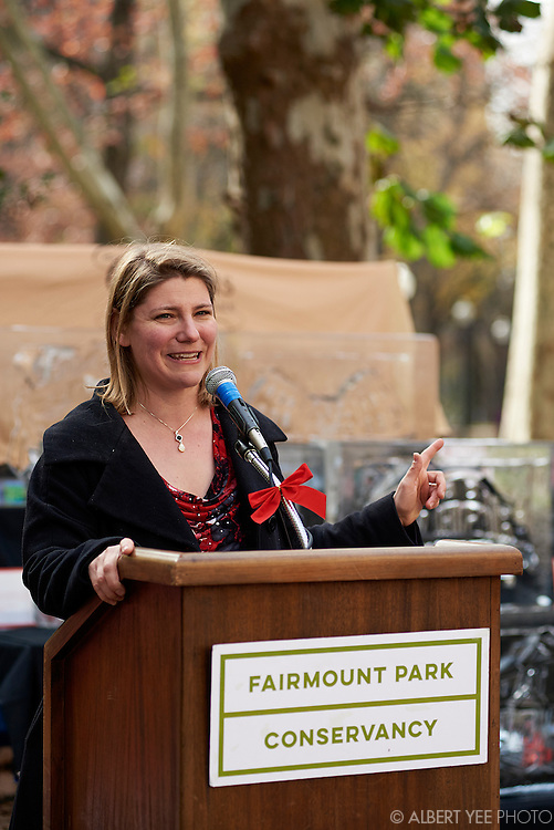 The Fairmount Park Conservancy unveils the plans for the annual Holly Trolley Day and Christmas at the Historic Houses of Fairmount Park<br /> Rittenhouse Square Park<br /> November 24, 2015
