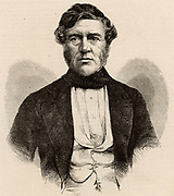 Thomas Bazeley (1797-1885) English cotton manufacturer, merchant and politician. A member of the Anti-Cornlaw League.  Member of Parliament for Manchester 1858-1880.   Engraving c1860.