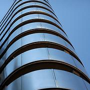 Lloyds building exterior stainless steel, London, England (September 2007)