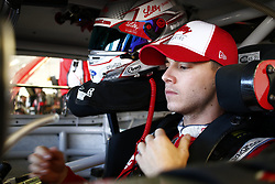 September 14, 2018 - Las Vegas, Nevada, United States of America - Ryan Reed (16) straps into his car to practice for the DC Solar 300 at Las Vegas Motor Speedway in Las Vegas, Nevada. (Credit Image: © Chris Owens Asp Inc/ASP via ZUMA Wire)
