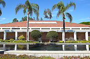 Richard Nixon Museum Building and Reflecting Pool