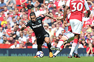 West Ham United midfielder Manuel Lanzini (10) during the Premier League match between Arsenal and West Ham United at the Emirates Stadium, London, England on 22 April 2018. Picture by Bennett Dean.