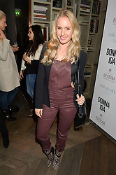 Model & blogger TESS MONTGOMERY at a party hosted by Donna Ida to celebrate 'A Decade in Denim' held at The hari Hotel, 20 Chesham Place, London on 11th October 2016.