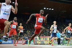 30.08.2012, Stadion Letzigrund, Zuerich, SUI, Leichtathletik, Weltklasse Zurich 2012, im Bild Reto Amaru Schenkel (SUI), 4x100m Maenner // during Athletics World Class Zurich 2012 at Letzigrund Stadium, Zurich, Switzerland on 2012/08/30. EXPA Pictures © 2012, PhotoCredit: EXPA/ Freshfocus/ Valeriano Di Domenico..***** ATTENTION - for AUT, SLO, CRO, SRB, BIH only *****