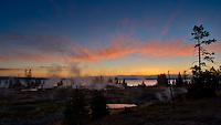 Dawn in Yellowstone National Park. Image taken with a Nikon D2xs and 14 mm f/2.8D lens (ISO 100, 14 mm, f/22, 1/6 sec). Nikonians ANPAT-7 (2007)
