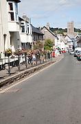 Moretonhampstead village street, Dartmoor national park, Devon, England, UK