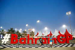 April 14, 2017 - Sakhir, Bahrain - Motorsports: FIA Formula One World Championship 2017, Grand Prix of Bahrain, .Bahrain GP Logo Hashtag  (Credit Image: © Hoch Zwei via ZUMA Wire)