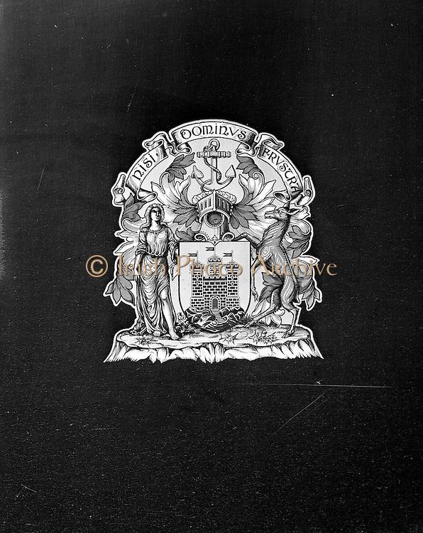 06/02/1957<br /> 02/06/1957<br /> 06 February 1957<br /> <br /> <br /> Special for CIE - Bus and Coat of Arms at Donnybrook Crash Garage<br /> 06/02/1957