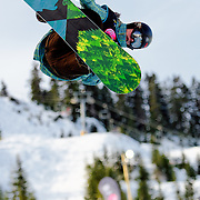 Finland National Snowboard Team member Iikka-Eemeli Laari competes in the half pipe during qualification for the 2009 LG Snowboard FIS World Cup at Cypress Mountain, British Columbia, on February 16th, 2009. Laari finished 20th in the field of 70.