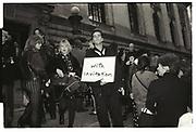 Outside Isaac Misrahi, NY fashion week, NY public Library. 1993,