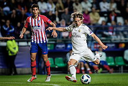 August 15, 2018 - Tallinn, Estonia - Luka Modric of FC Real Madrid in action at UEFA Super Cup 2018 in Tallinn..The UEFA Super Cup 2018 was played between Real Madrid and Atletico Madrid. Atletico Madrid won the match 4-2 during extra time after and took the trophy after drawing at 2-2 during the first 90 minute of game play. (Credit Image: © Hendrik Osula/SOPA Images via ZUMA Wire)