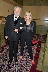 TWIGGY and her husband LEIGH LAWSON at the WGSN Global Fashion Awards 2015 held at The Park Lane Hotel, Piccadilly, London on 14th May 2015.