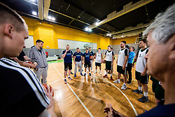 Rado Trifunovic, head coach with players during practice session of Slovenian National basketball team before FIBA Basketball World Cup China 2019 Qualifications against Belarus, on November 20, 2017 in Arena Stozice, Ljubljana, Slovenia. Photo by Vid Ponikvar / Sportida