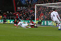 Football - 2019 / 2020 Premier League - AFC Bournemouth vs. Chelsea<br /> <br /> Bournemouth's Joshua King taps in from close range to put Bournemouth into the lead at the Vitality Stadium (Dean Court) Bournemouth <br /> <br /> COLORSPORT/SHAUN BOGGUST