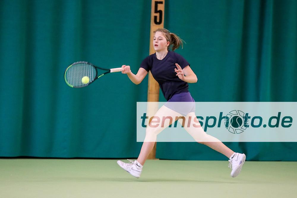 Oona Kintscher (Tennis-Club SCC Berlin), TVBB-Jugendhallenmeisterschaften 2020 U16/U18, Seeburg, 12.1.2020, Foto: Claudio Gärtner