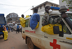 FREETOWN, Aug. 17, 2017  Bodies of the mudslide victims are tranferred to a hospital in Freetown, capital of Sierra Leone, on Aug. 17, 2017. Altogether 331 bodies have been taken to the morgue by the rescue team following the devastating mudslide, according to Sinneh Kamara, head of the Connaught Mortuary in Freetown, capital of Sierra Leone, on Thursday. (Credit Image: © Chen Cheng/Xinhua via ZUMA Wire)