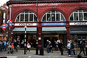 Covent Garden Underground station in the West End of London.