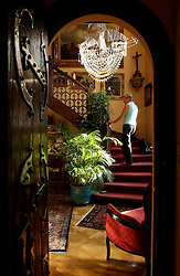 KNOKKE, BELGIUM - AUGUST-1-2005 -  The Manoir du Dragon in Knokke-Zoute caters to a well healed clientele with rooms ranging from 190 euros to 425 euros per night. (Photo © Jock Fistick)