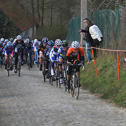 Sportfoto archief 2013<br /> Tour of Flanders women Adrie Visser forcing on the Molenberg first climb of the day