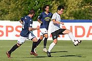 Hawke's Bay United Sho Goto passes in the Handa Premiership football match, Hawke's Bay v Auckland, Bluewater Stadium, Napier, Sunday, January 20, 2019. Copyright photo: Kerry Marshall / www.photosport.nz