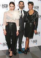 Billie Piper, Riz Ahmed & Cush Jumbo, BFI London Film Festival 2016: City Of Tiny Lights - European Premiere, Picturehouse Central, London UK, 13 October 2016, Photo by Brett D. Cove