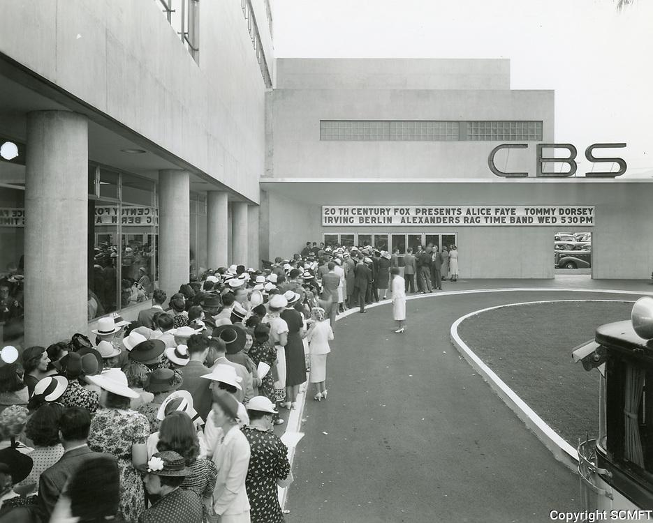 1938 CBS Radio on Sunset Blvd.