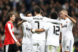 10.11.2010, Estadio Santiago Bernabeu, Madrid, ESP, Spanish Kings Cup, Real Madrid vs Real Murcia, im Bild Real Madrid's Cristiano Ronaldo cellebrates goal during Spanish King's Cup match. EXPA Pictures © 2010, PhotoCredit: EXPA/ Alterphotos/ Cesar Cebolla +++++ ATTENTION - OUT OF SPAIN / ESP +++++