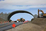 Wildlife Bridge under construction, CO Hwy 9, south of Kremmling, Colorado.