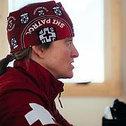Portrait of Jen Calder Assistant Director of ski patrol for Jackson Hole Mountai Resort.