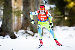 Miha Dovzan (SLO) competes during Men 12,5 km Pursuit at day 3 of IBU Biathlon World Cup 2015/16 Pokljuka, on December 19, 2015 in Rudno polje, Pokljuka, Slovenia. Photo by Ziga Zupan / Sportida