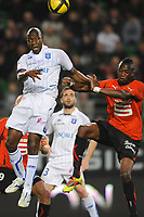 FOOTBALL - FRENCH CHAMPIONSHIP 2010/2011 - L1 - STADE RENNAIS v AJ AUXERRE - 2/04/2011 - PHOTO PASCAL ALLEE / DPPI - ADAMA COULIBALY (AJA) / TONGO HAMED DOUMBIA (REN)
