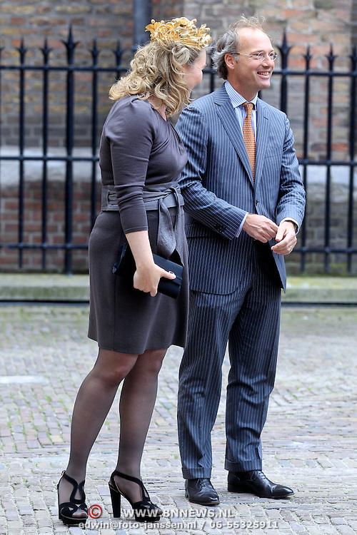 NLD/Den Haag/20110920 - Prinsjesdag 2011, Melanie Schultz van Haegen - Geesteranus en partner Haro