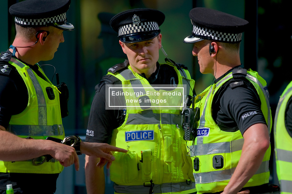 High security in Edinburgh during a visit by former US president Barack Obama Organised by The Hunter Foundation. Mr Obama will address business leaders and take part in a Q&A at the Edinburgh International Conference Centre. 26th May 2017, (c) Brian Anderson   Edinburgh Elite media