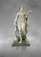 Roman marble sculpture known as the 'Flora Maggiore' , a 2nd century AD, inv no 6409 Farnese Collection, Naples  Museum of Archaeology, Italy ..<br /> <br /> If you prefer to buy from our ALAMY STOCK LIBRARY page at https://www.alamy.com/portfolio/paul-williams-funkystock/greco-roman-sculptures.html . Type -    Naples    - into LOWER SEARCH WITHIN GALLERY box - Refine search by adding a subject, place, background colour, etc.<br /> <br /> Visit our ROMAN WORLD PHOTO COLLECTIONS for more photos to download or buy as wall art prints https://funkystock.photoshelter.com/gallery-collection/The-Romans-Art-Artefacts-Antiquities-Historic-Sites-Pictures-Images/C0000r2uLJJo9_s0