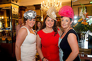 Monica Culhane, Limerick, Annette Culhane, limerick, Sheila Shanaghan, Tipperary  at the Hotel Meyrick  Most Stylish Lady event on ladies day of The Galway Races. Photo:Andrew Downes