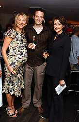 """Left to right,  KATE SHARMAN, tv presenter RICHARD ORFORD and tv presenter BEVERLEY TURNER at a party to celebrate the publication of a """"Diary of A C List Celebrity"""" by Paul Hendy held at Bar 19/21 Soho House, 21 Old Compton Street, London W1 on 13th July 2004."""