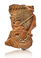Ancient Egyptian tomb relief sculpture of King Amenhotep III with a blue crown from the grave of Chaemhat, Thebes West. 18th Dynasty 1360 BC. Neues Museum Berlin AM 14442. .<br /> <br /> If you prefer to buy from our ALAMY PHOTO LIBRARY  Collection visit : https://www.alamy.com/portfolio/paul-williams-funkystock/ancient-egyptian-art-artefacts.html  . Type -   Neues    - into the LOWER SEARCH WITHIN GALLERY box. Refine search by adding background colour, subject etc<br /> <br /> Visit our ANCIENT WORLD PHOTO COLLECTIONS for more photos to download or buy as wall art prints https://funkystock.photoshelter.com/gallery-collection/Ancient-World-Art-Antiquities-Historic-Sites-Pictures-Images-of/C00006u26yqSkDOM